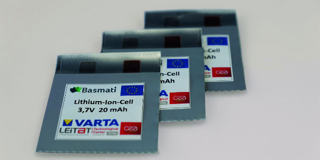 Varta printed batteries